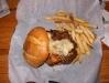 Hamburguesa con camarones